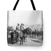 Francisco Pancho Villa (1878-1923). Mexican Revolutionary Leader. Photographed While Reviewing Troops, C1914 Tote Bag