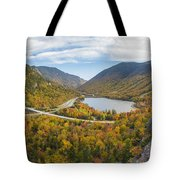 Franconia Notch Autumn View Tote Bag