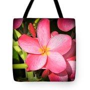 Frangipani Blossom Tote Bag