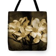 Frangipani In Sepia Tote Bag