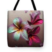 Frangipani With Overlay Tote Bag