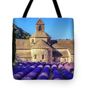 All Purple, Cistercian Abbey Of Notre Dame Of Senanque, France  Tote Bag