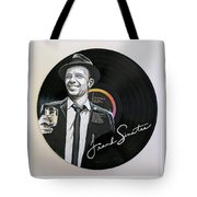 Frank Sinatra Portrait On Lp Tote Bag