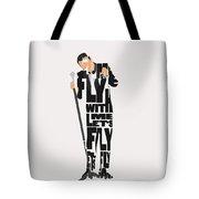 Frank Sinatra Typography Art Tote Bag