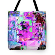 Frankenstein In Abstract Cubism 20170407 Square Tote Bag