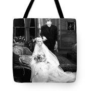 Frankenstein Monster Sneaks Up On Bride 1931 Movie Tote Bag