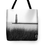 Frankfort North Breakwater Lighthouse Michigan Tote Bag
