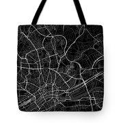 Frankfurt Germany Dark Map Tote Bag
