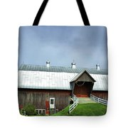 Franklin Barn By The Lake Tote Bag