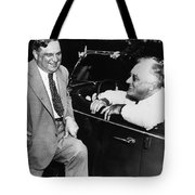 Franklin Roosevelt And Fiorello Laguardia In Hyde Park - 1938 Tote Bag