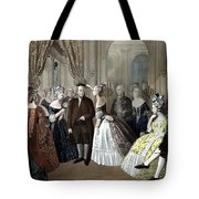 Franklin's Reception At The Court Of France Tote Bag