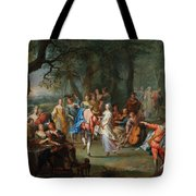 Franz Christoph Janneck Graz 1703-1761 Vienna A Dance In The Palace Gardens, Tote Bag
