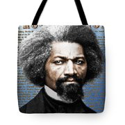 Frederick Douglass And Emancipation Proclamation Painting In Color  Tote Bag