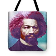 Frederick Douglass Painting In Color Pop Art Tote Bag