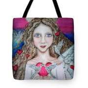 Shape Of My Heart Tote Bag