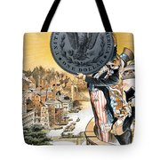 Free Silver Cartoon, 1890 Tote Bag