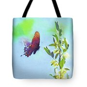 Free To Fly - Butterfly In Flight Tote Bag