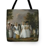 Free Women Of Color With Their Children And Servants In A Landscape Tote Bag