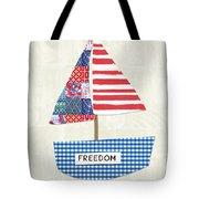 Freedom Boat- Art By Linda Woods Tote Bag