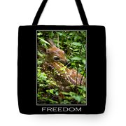 Freedom Inspirational Motivational Poster Art Tote Bag by Christina Rollo