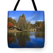 Freedom Park Bridge And Lake In Charlotte Tote Bag