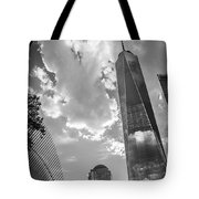 Freedom Tower Bw Tote Bag