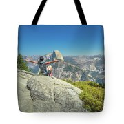 Freedom Woman At Glacier Point Tote Bag