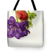 Freesia And Tulip Tote Bag
