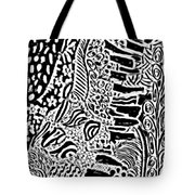 Freestyle 3 Abstract Tote Bag