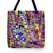 Freeway Of Colors Abstract Tote Bag