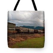Freight Rain Tote Bag