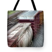 Freight Train Abstract Tote Bag