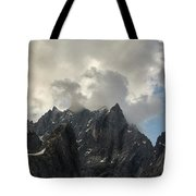 French Alps Peaks Tote Bag