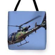 French Army Gazelle Helicopter Tote Bag