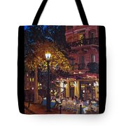French Bistro At Night Tote Bag