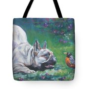 French Bulldog Meets Robin Redbreast Tote Bag