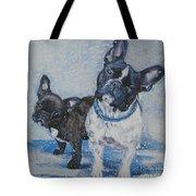French Bulldog Mom And Pup Tote Bag