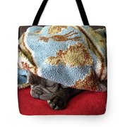 French Bulldog Naps Under A Blanket-1 Tote Bag