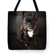 French Bulldog On The Couch Tote Bag