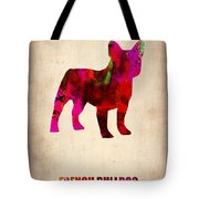 French Bulldog Poster Tote Bag by Naxart Studio
