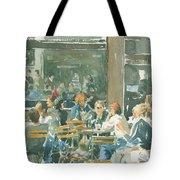 French Cafe Scene  Tote Bag