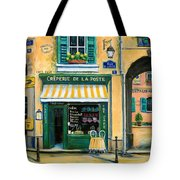 French Creperie Tote Bag by Marilyn Dunlap