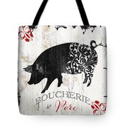 French Farm Sign Piglet Tote Bag