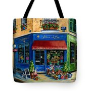 French Flower Shop Tote Bag