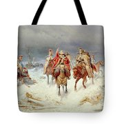 French Forces Crossing The River Berezina In November 1812 Tote Bag