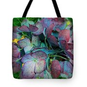 French Hydrangea Rainbow Tote Bag