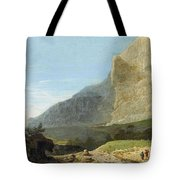French Master 1st Half Of Th 19th Century   Rocky Cliff Off Shore Tote Bag