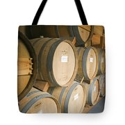 French Oak Barrels Of Wine At Midnight Tote Bag