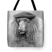 French Poodle Wearing Beret, C.1970s Tote Bag