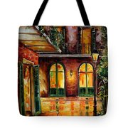 French Quarter Alley Tote Bag
